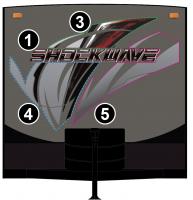3 piece 2018 Shockwave Partial Front Graphics Kit - Image 2
