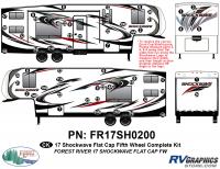 56 Piece 2017 Shockwave FW Flat Cap Complete Graphics Kit