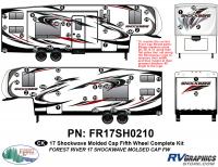 56 Piece 2017 Shockwave FW Molded Cap Complete Graphics Kit