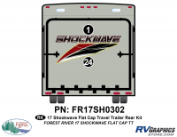 Shockwave - 2017 Shockwave TT-Travel Trailer with Flat Cap - 2 Piece 2017 Shockwave TT Flat Cap Rear Graphics Kit