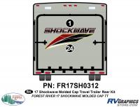 Shockwave - 2017 Shockwave TT-Travel Trailer with Molded Cap - 2 Piece 2017 Shockwave TT Molded Cap Rear Graphics Kit