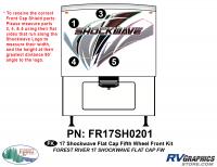 4 Piece 2017 Shockwave FW Flat Cap Front Graphics Kit