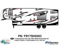 25 Piece 2017 Shockwave FW Flat Cap Roadside Graphics Kit