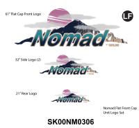 Nomad - 2000 Nomad TT-Flat Cap Front - 2000-2002 Nomad TT Metal Front Logo Graphics Kit