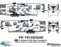 54 Piece 2013 Sandstorm FW Complete Graphics Kit