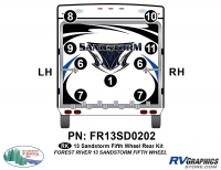 9 Piece 2013 Sandstorm FW Rear Graphics Kit