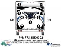9 Piece 2013 Sandstorm SLR Lg TT Rear Graphics Kit