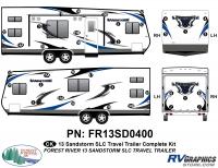 Sandstorm - 2013-2014 Sandstorm Med TT-Medium Travel Trailer - 36 Piece 2013 Sandstorm SLC Med TT Complete Graphics Kit
