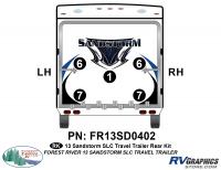 Sandstorm - 2013-2014 Sandstorm Med TT-Medium Travel Trailer - 5 Piece 2013 Sandstorm SLC Med TT Rear Graphics Kit