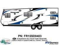 Sandstorm - 2015 Sandstorm Med TT SLC-Medium Travel Trailer - 20 Piece 2015 Sandstorm SLC Lg TT Roadside Graphics Kit