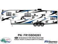 23 Piece 2015 Sandstorm FW Roadside Graphics Kit