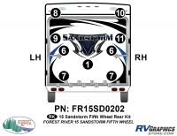 9 Piece 2015 Sandstorm FW Rear Graphics Kit