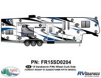 23 Piece 2015 Sandstorm FW Curbside Graphics Kit