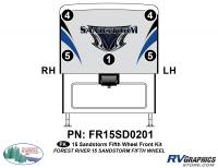 5 Piece 2015 Sandstorm FW Front Graphics Kit