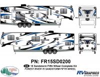 58 Piece 2015 Sandstorm FW Complete Graphics Kit