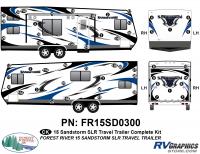Sandstorm - 2015 Sandstorm Lg TT SLR-Large Travel Trailer - 54 Piece 2015 Sandstorm SLR Lg TT Complete Graphics Kit