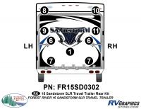 Sandstorm - 2015 Sandstorm Lg TT SLR-Large Travel Trailer - 9 Piece 2015 Sandstorm SLR Lg TT Rear Graphics Kit