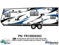 Sandstorm - 2015 Sandstorm Lg TT SLR-Large Travel Trailer - 20 Piece 2015 Sandstorm SLR Lg TT Roadside Graphics Kit