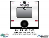 Salem - 2018 Salem TT-Travel Trailer - 2 Piece 2018 Salem TT Rear Graphics Quote