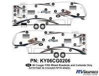 Cougar - 2006-2008 Cougar FW-Fifth Wheel OEM Colors - 2006 Cougar Fifth Wheel Right and Left Side Kit (Sides Only)