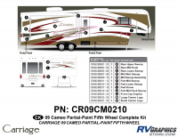 Cameo - 2009 Cameo  FW-Fifth Wheel - 25 Piece 2009 Cameo FW Partial Paint Complete Graphics Kit
