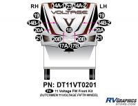 Voltage - 2011 Voltage FW-Fifth Wheel - 16 Piece 2011 Voltage FW Front Graphics Kit