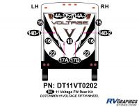Voltage - 2011 Voltage FW-Fifth Wheel - 14 Piece 2011 Voltage FW Rear Graphics Kit