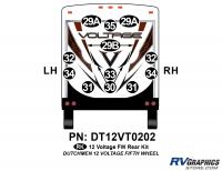 Voltage - 2012 Voltage FW-Fifth Wheel - 14 Piece 2012 Voltage FW Rear Graphics Kit