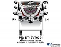 Voltage - 2012 Voltage FW-Fifth Wheel - 12 Piece 2012 Voltage FW Front Graphics Kit