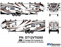 Voltage - 2012 Voltage FW-Fifth Wheel - 78 Piece 2012 Voltage FW Complete Graphics Kit