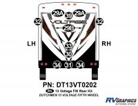 Voltage - 2013 Voltage FW-Fifth Wheel - 14 Piece 2013 Voltage FW Rear Graphics Kit