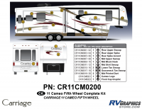 Cameo - 2011 Cameo  FW-Fifth Wheel - 27 Piece 2011 Cameo FW Complete Graphics Kit