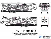 Raptor - 2012 Raptor  FW-Fifth Wheel - 77 Piece 2012 Raptor FW Complete Graphics Kit