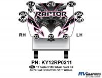 Raptor - 2012 Raptor  FW-Fifth Wheel - 11 Piece 2012 Raptor FW Front Graphics Kit