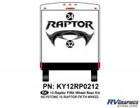 2 Piece 2012 Raptor FW Rear Graphics Kit