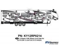 Raptor - 2012 Raptor  FW-Fifth Wheel - 31 Piece 2012 Raptor FW Curbside Graphics Kit