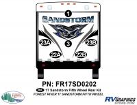 Sandstorm - 2017 Sandstorm FW-Fifth Wheel - 6 Piece 2017 Sandstorm FW Rear Graphics Kit
