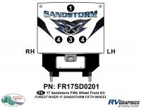 Sandstorm - 2017 Sandstorm FW-Fifth Wheel - 4 Piece 2017 Sandstorm FW Front Graphics Kit