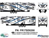 Sandstorm - 2017 Sandstorm FW-Fifth Wheel - 58 Piece 2017 Sandstorm FW Complete Graphics Kit
