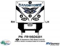 Sandstorm - 2019 Sandstorm FW-Fifth Wheel - 6 Piece 2019 Sandstorm FW Front Graphics Kit