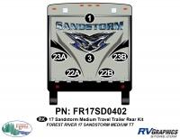 6 Piece 2017 Sandstorm Med TT Rear Graphics Kit