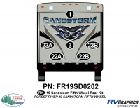 Sandstorm - 2019 Sandstorm FW-Fifth Wheel - 6 Piece 2019 Sandstorm FW Rear Graphics Kit