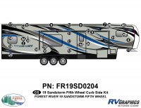 Sandstorm - 2019 Sandstorm FW-Fifth Wheel - 29 Piece 2019 Sandstorm FW Curbside Graphics Kit