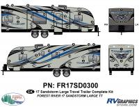 Sandstorm - 2017 Sandstorm Lg TT-Large Travel Trailer - 58 Piece 2017 Sandstorm Lg TT Complete Graphics Kit