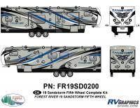 Sandstorm - 2019 Sandstorm FW-Fifth Wheel - 68 Piece 2019 Sandstorm FW Complete Graphics Kit