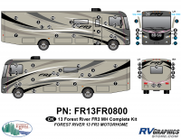 62 Piece 2013 FR3 MH Complete Graphics Kit