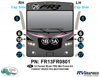 13 Piece 2013 FR3 MH Front Graphics Kit