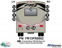 11 Piece 2013 FR3 MH Rear Graphics Kit