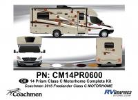 Prism - 2014 Prism Class C Motorhome - 36 Piece 2014 Prism Class C MH Complete Graphics Kit