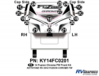 2014 Fuzion Chrome FW Front Graphics Kit